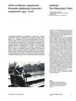 Arhiv za likovne umjetnosti Hrvatske akademije znanosti i umjetnosti:  1937. – 2016.