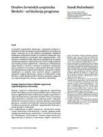 prikaz prve stranice dokumenta Društvo hrvatskih umjetnika Medulić – artikulacija  programa
